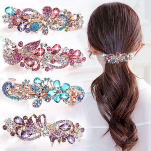 Coreano Grande Primavera Crystal Water Broca Versátil Placa Lateral Clipe Headdress Headdress