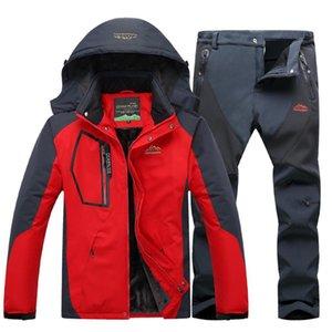 Winter Ski Suit For Men Fleece Warm Windproof Waterproof Skiing Suits Snowboarding Set Outdoor Ski Jacket + Pants Snowboard Sett