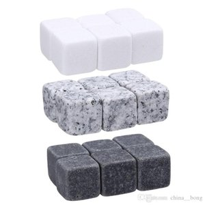 6pc Natural Whiskey Stones Sipping Ice Cube Whisky Stone Rock Cooler Christmas Bar Accessories 2017 newest WHISKY ICE CLUB DHL Fedex free