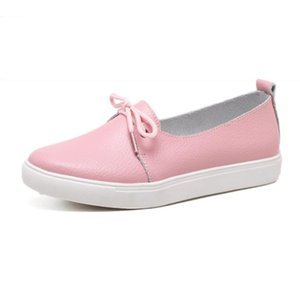 SAGACE Lace Up Round Toe Ladies Casual Shoes Flat Bottom Comfortable Sneakers Shoes Peas Boat Flat Autumn Spring Single