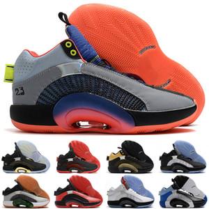 J35 XXXV Centro de Gravidade Bayou Meninos DNA Homens Basquetebol Sapatos Esporte Sneaker Fragmento x 35 Jumpman Sport Blue Sliver Trainer Preto