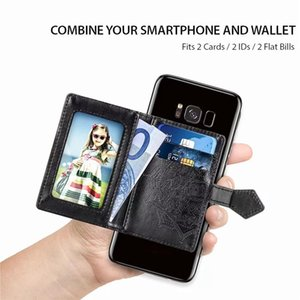 10pcs Universal Multifunction PU Leather Mandala Cell Phone Wallet Back 3M Sticker Cover Card Slots Holder Sticker Phone Sticker Pouch