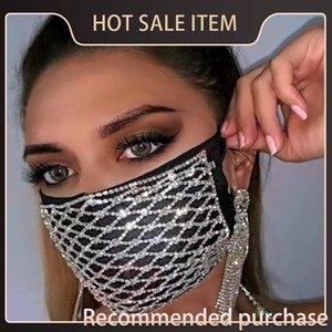 Dancer Decorative For Mask Mask Bling Crystal Women Fashion Elastic Halloween Party Jewelry Luxury Rhinestone Blhox