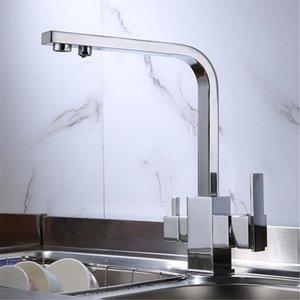 Rotazione a 360 gradi in ottone bere acqua filtrata acqua cucina rubinetto angolo retto X6HC