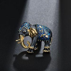 Yada Enamel Elephant Metalb Pins And Brooches For Lapel Pin Garment Scarf Accessory Jewelry Rhinestone Crystal Brooches Bh200002 jllXVx