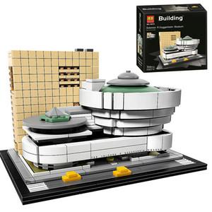 bela 10679 Architecture Bâtiment Set Solomon R. Guggenheim Museum 21035 Briques Modèle Building Block Jouets 1008