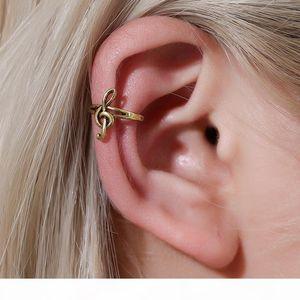 2020 Moda Retro Mulheres Música Nota Ear Clipe Punk Jóias Orelha Do Vintage Cuff Clipe Brincos
