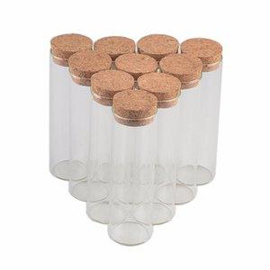 30 * 120 мм 60ml крохотных Empty Test Tube Пробка Бутылка Флаконы для украшения венчания рождественских подарков 50pcs / lot
