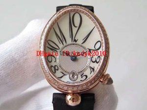 ZF Fábrica Reine de Naples Womens Watch Diamond Woman Watch Swiss 537 Mecânica Automática 28800 VPH 18K Rose Gold Ladies Relógios