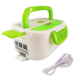 Tenbroman 220V + 12 V / 220V Caja de almuerzo de calefacción eléctrica portátil Portátil Calentador de almacenamiento de alimentos Hecho por PP Contenedor de alimentos extraíbles para el hogar Y0120
