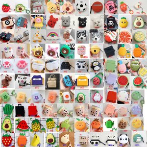 3D de animales dibujos de frutas encantadora linda para el caso de manzana airpods AirPod Recuadro 2 3 cargador del auricular del auricular pro accesorios cubierta protectora