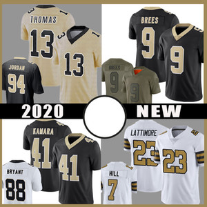13 Michael Thomas 9 Drew Brees To Patch Football Jersey 41 Alvin Kamara 7 Taysom Hill 23 Marshon LattiMore 94 Cameron Jerseys