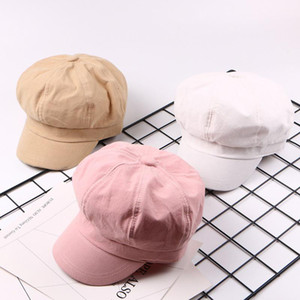 Spring Summer Baseball Caps Solid Color Plain Cute Octagonal Hat Painter Cap Multicolor Wild Octagonal Hats Casual Visor Sale