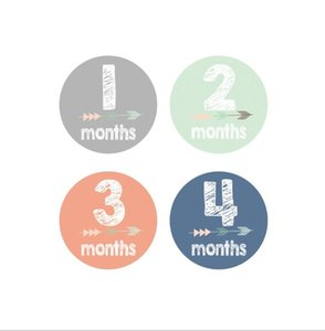 Paster Baby Month Sticker Baby Photo Prop High quality anti-dirt sticker Wall Stickers Decoration Photo Prop Decals EEB4320