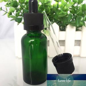 Wholesale- 800pcs Green 30ml Glass Dropper Bottles With Black Rubber Bulb Dropper Essential Oil Glass Bottle 5ml 10ml 15ml 50ml