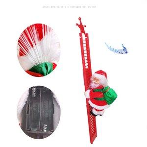 O presente do Natal Papai Noel traz surpresas para as crianças brinquedos da música elétrica Corda da escada da escalada de escalada que pendura o decoração do partido do ornamento