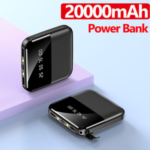 20000mAh Mini Power Bank Fast Charger for iPhone Xiaomi Huawei 2 USB LCD Type C Powerbank Portable External Battery Pack Free Shipping