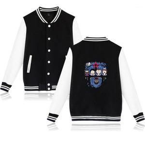 Мужские куртки зимняя новейшая бейсбольная куртка унифицированная конструкция толстовки хип-хоп повседневная хлопчатобумажная толстовка из хлопка Harajuku1