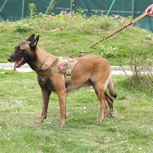 Military Tactical Dog Harness Patrol Working Pet Collar Small Large Dog Harness Service Dog Vest With Handle Pet Products LJ201113