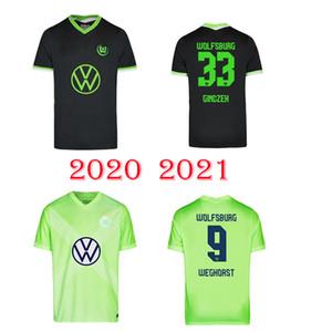 20 21 VfL Wolfsburg Heimtrikot WEGHORS Soccer Jerseys 2020 2021 KLAUS MALLI STEFFEN MEHMEDI ROUSSILLON BROOKS ARNOLD BREKALO Football shirts