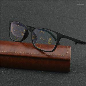 Marke TR90 DiOptbrand TR90 Dioptrien Lesebrille Mode Multifokale Linsen Lesebrille Quadratische Progressive Glasse FML1