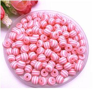 Nuevo 6/8/10 / 12mm Resina redonda Beads Bead Spacer Beads for Jewelry Hacienda Niños Departamento de artesanía DIY pulsera ACC JLLLLBG