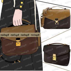 DISEÑO DE ENVÍO GRATUITO POCHETTE METIS Handbag 40780 Bolsos de Crossbody de las mujeres Bolso de hombro clásico 25cm Mensajero Monedero con cinturón