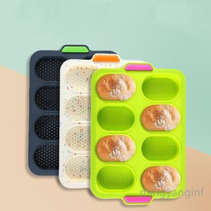 Mini Baguette Baking Tray, Non-Stick Silicone French Bread Baking Mould,DIY 8 Loave Baguette Mold Loaf Pan MY-inf0471