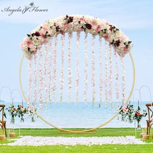 Luxus 1m / 2m DIY Wisrteria Blume Reihe Dekor für Partyfenster Shop Hochzeit Bogen Kulisse Künstliche Blume Arrangement Vine Rose1