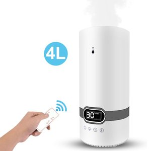 Top Fill 4L Humidifier Essential Oil Aroma Diffuser Cool Mist Ultrasonic Air Humidifier With Intelligent Remote Control