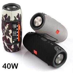 40W High Power Bluetooth Speaker Portátil Coluna Wireless Outdoor Sound Bar Subwoofer baixo colunas estéreo com cartão Rádio FM USB TF BT AUX