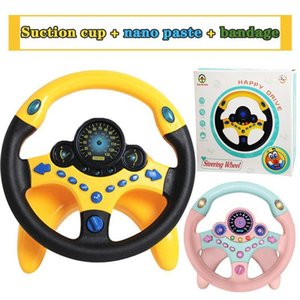 Children Simulation Steering Wheel Educational Toy With Light Baby Music Development Electronic Music Car Toy Boy Birthday Gift LJ201105