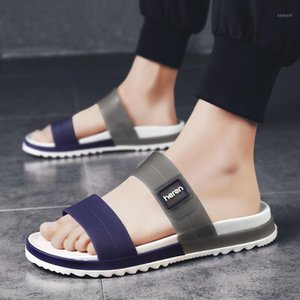 Сандалии мужские тапочки повседневная мужчина летняя дыра обувь резина для слайдов плавание желейная обувь1