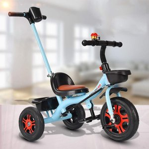 Kids Tricycle Stroller Bicycle With Push Rod Baby Walker Baby Balance Car Trolley Bicycle Boy Girl Toy Car Bike Stroller