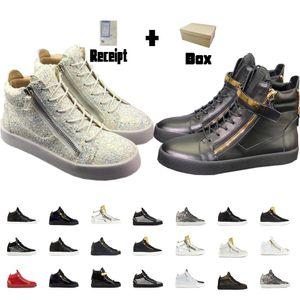 Luxurys Конструкторы обувь мужчин кроссовки женщин обувь ZIPPY Трейнеры белые туфли моды пинетки Zip высокий Flat Top Sneakers Black Boots Женщины 02