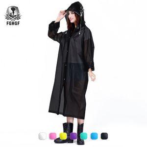 FGHGF 패션 EVA 비옷 두꺼운 비옷 여성 명확한 투명 캠핑 방수 가을웨어 슈트