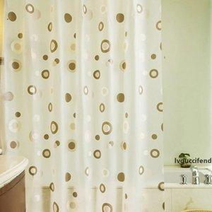 Eco Friendly 180x200cm PEVA Bathroom Shower Curtains Water Proof Thickening Bath Curtain Starfish Hibiscus Pattern 6 styles