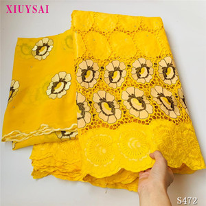 XIUYSAI African Lace Fabric 2020 new design bazin riche fabric tissu african bazin lace with embroidery and stones SK49