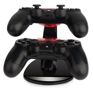 Wholesale-LED Dual Charger Dock Mount USB Charging Stand For PlayStation 4 PS4 Xbox One Gaming Wireless Controller With Retail Box