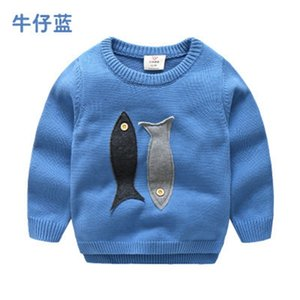 Autumn Winter 2-10 Years Spring Old Teenage Christmas Gift O-Neck Knitted School Child Cartoon Baby Kids Boys Sweaters 201202 17IDL