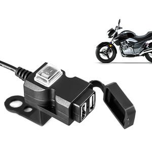 Dual USB Port 12V Wasserdichte Motorrad-Motorrad-Lenker-Ladegerät 5V 1A / 2,1A Adapter Netzteil Buchse für Telefon Handy