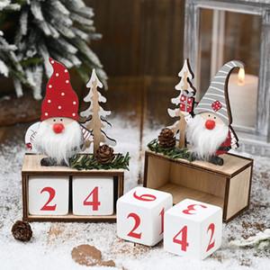 2020 En Yeni Noel Ahşap çam kozalağı Takvim Noel Baba Süsleri Noel Ahşap Takvim sayım Süsleme DHL Ücretsiz Kargo