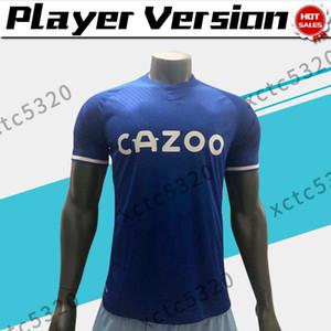 Player version 2021 Les maillots de football caramels maison bleu # 19 # 10 JAMES SIGURDSSON # 7 hommes chemise RICHARLISON de football sur mesure
