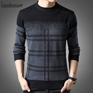 New Fashion Brand Sweater Mens Pullovers Thick Slim Fit Jumpers Knitwear Woolen Winter Korean Style Casual Clothing Men 201022