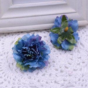Flores artificiales de la fiesta de Navidad moda de la boda de la sede artificial del clavel Flores volver a casa decoración del ornamento para EWD2070 regalo monther