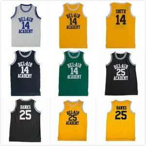 NCAA NCAA # 14 Will Smith Jersey The Fresh Prince di Bel Air Academy # 25 Carlton Banks Film Jerseys Spedizione gratuita