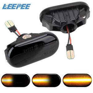 A Pair Blinker Signal Lamp LED Car Dynamic Side Marker Turn Signal Light For Qashqai Navara Micra 350Z Note Pathfinder