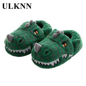 ULKNN Winter Kids Slippers Cartoon Pink Lovely Platform Home Slippers Warm Thicken Indoor Children Shoes 201105