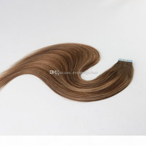 Balayage Color 4 27 Remy Hair Straight High Quality Best Selling PU Tape Hair 100G Per Bundle In Stock