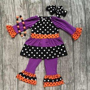 Girlymax Oferta especial bebê meninas cair / inverno halloween crianças roupas de algodão conjunto acessórios 0126